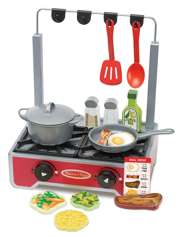 Melissa & Doug: Wooden Cooktop - Deluxe Play Set