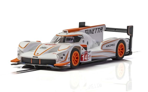 Scalextric: Ginetta G60-LT-P1 #14 White - Orange - Slot Car