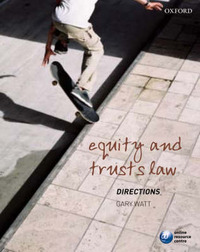 Equity and Trusts Directions by Gary Watt image