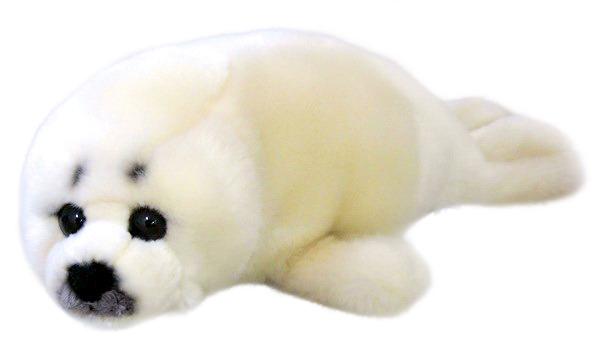 Silky Soft White Seal 20cm Plush image