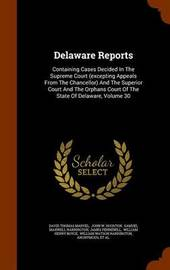 Delaware Reports by David Thomas Marvel image
