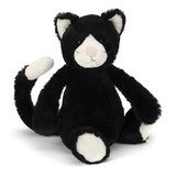 Jellycat: Bashful Cat - Black & White (Medium)