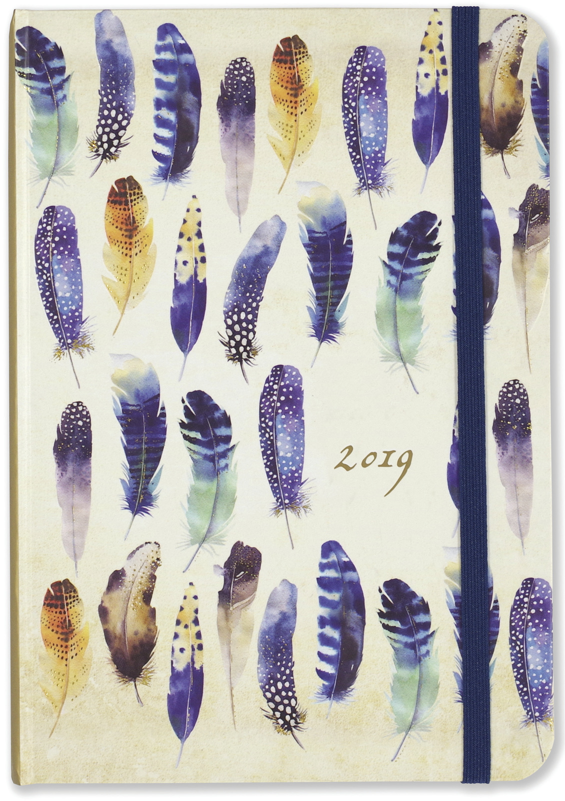 Peter Pauper: Feathers 16 Month 2019 Compact Diary image