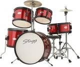 """Stagg 5pc Junior Drum Set 16"""" (Red)"""