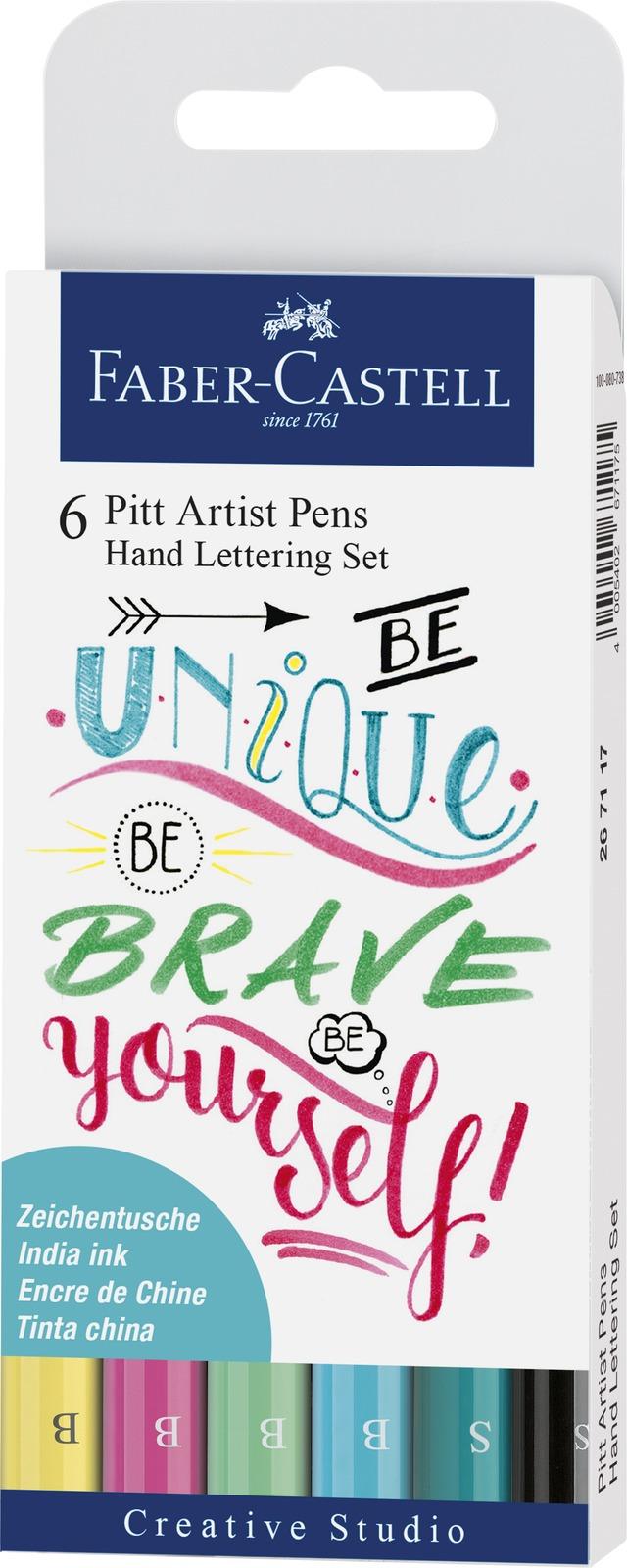 Faber-Castell: Pitt Artist Pens Hand Lettering Pastel (Set of 6) image