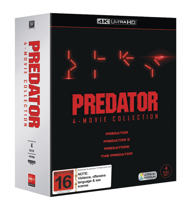 Predator 1-4 Boxset on UHD Blu-ray