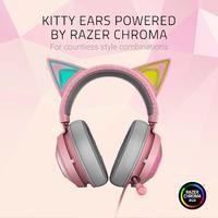 Razer Kraken Kitty Ears Chroma USB Headset (Quartz) for PC