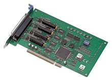 Advantech 4-Port RS232/422/485 Comms Card + Surge DB9 image