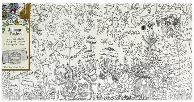 Buy Johanna Basford Canvas 12x24 Enchanted Forest at Mighty Ape ...