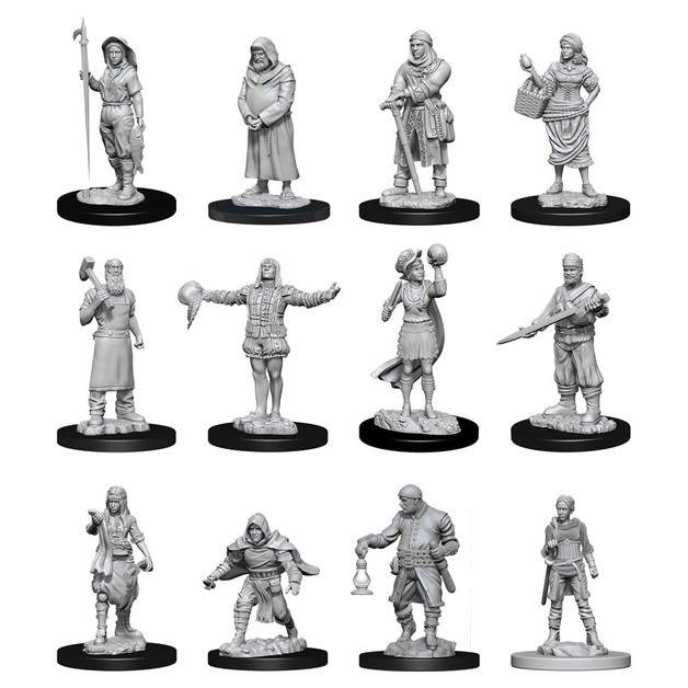 WizKids Deep Cuts: Unpainted Miniatures - Townspeople Accessories