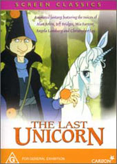 The Last Unicorn on DVD