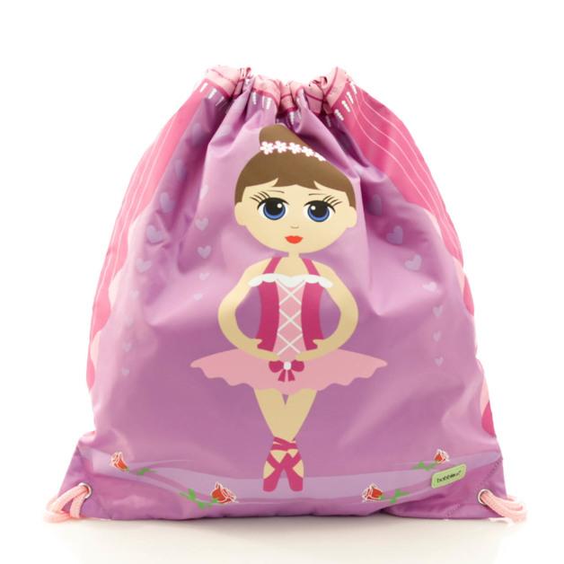 BobbleArt Kids Drawstring Bag - Ballerina