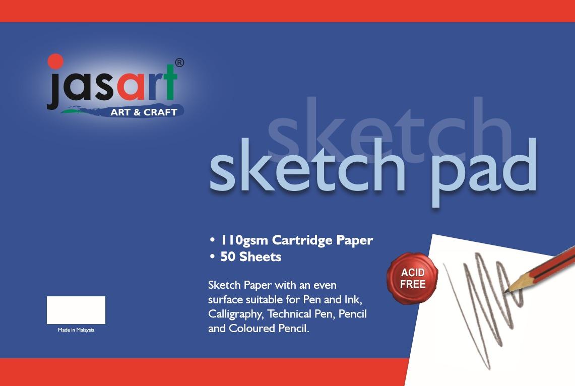 Jasart: Gummed Sketch Pad - A2 (50 Sheets) image