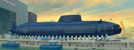 Trumpeter: HMS Astute British Sub - 1/144 Scale Model Kit