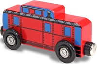 Melissa & Doug: Wooden Magnet Red Caboose Car - 6 Pack