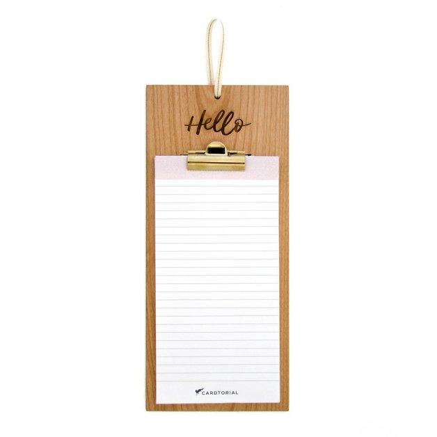 Cardtorial Wooden Clipboard - Hello