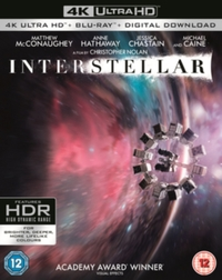 Interstellar on Blu-ray, UHD Blu-ray