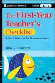 The First-Year Teacher's Checklist by Julia G. Thompson image