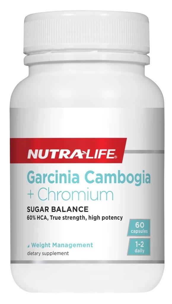 Nutra-Life: Garcinia Cambogia + Chromium Caps (60s) image