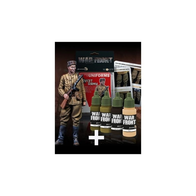 Scale75: 1:35 Pack Frontovik + Soviet Army Paint Set Figure