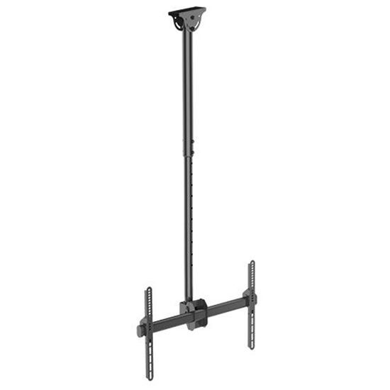 BRATECK: 37'-75' Ceiling mount bracket. Max load: 50Kgs.VESA support up to: 600x400.Profile: 560-910mm.