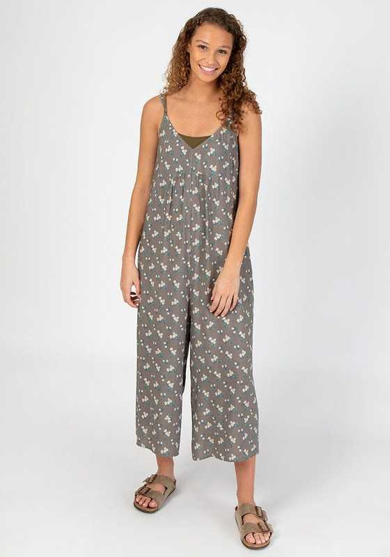 Natural Life: Adjustable Jumpsuit - Grey Daisies (Large)