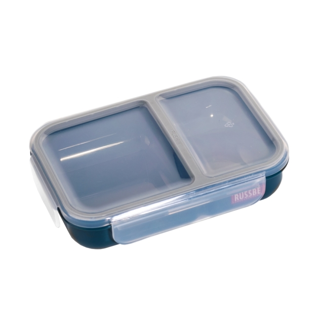 Russbe Inner Seal 2 Compartment Lunch Bento 680ML - Navy