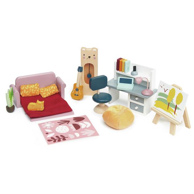 Tender Leaf Toys: Dolls House - Study Furniture Set