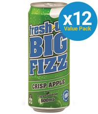 Fresh Up Big Fizz Crisp Apple 500ml (12 Pack)