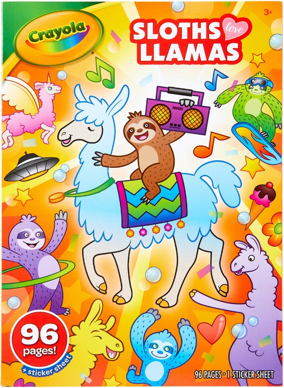 Crayola: Colouring Book - Sloths Love Llamas