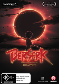 Berserk: The Golden Age Arc III - The Advent on DVD