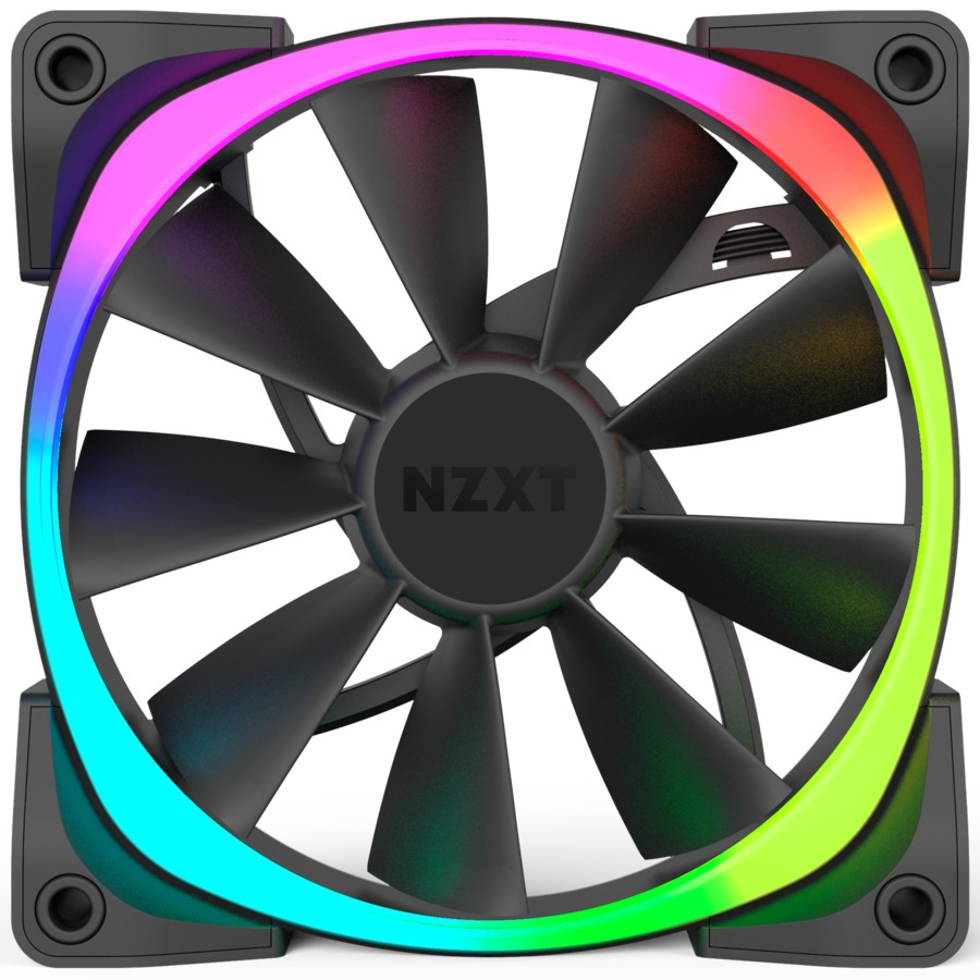 120mm NZXT Aer RGB - Digitally Controlled RGB LED Fan for Hue+ image