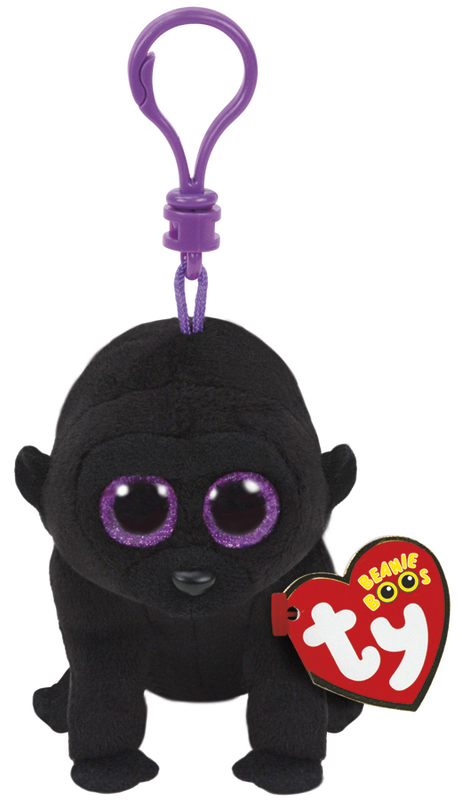 Ty Beanie Boos: George Gorilla - Clip On Plush
