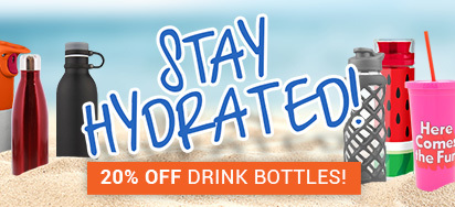20% OFF Drink Bottles!
