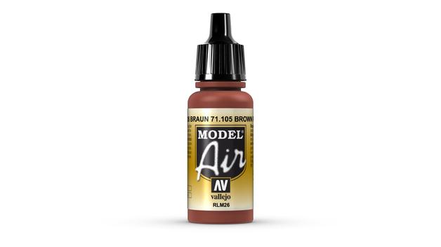 Vallejo Model Air Brown Acrylic Paint 17ml