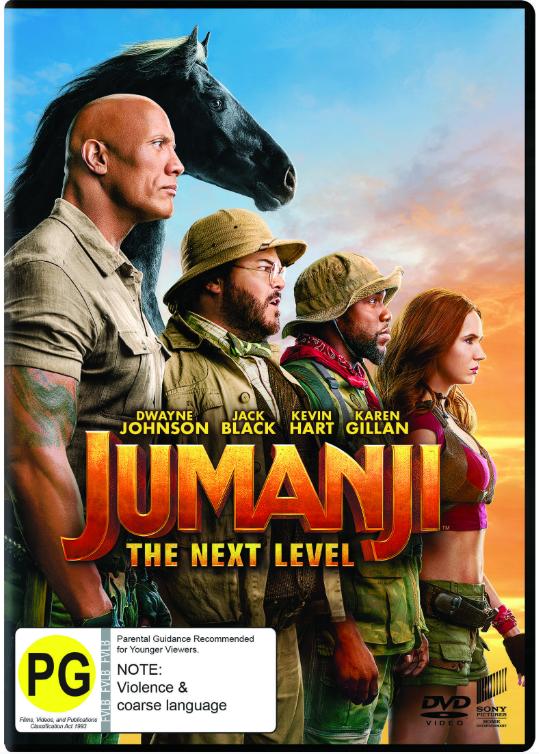 Jumanji: The Next Level on DVD
