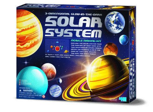 4M: Glow In The Dark 3D Solar System Mobile Kit image
