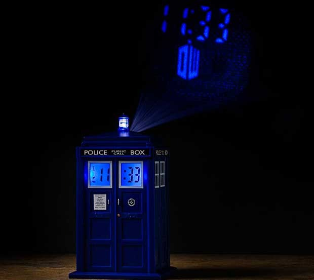 Doctor who tardis projection alarm clock images at mighty ape nz - Tardis alarm clock ...
