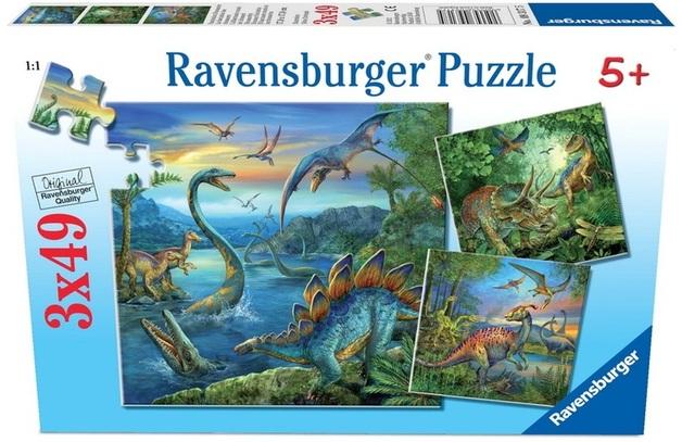 Ravensburger 3x49 Piece Jigsaw Puzzle - Dinosaur Fascination