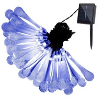 30 LED Solar Water Drop Fairy String Light - Blue