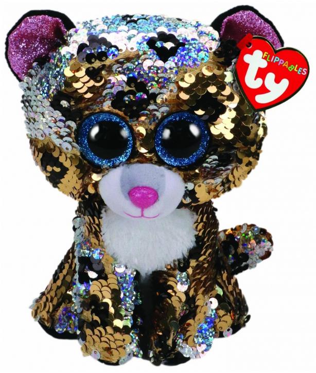 TY Beanie Boo: Flip Sterling Leopard - Medium Plush