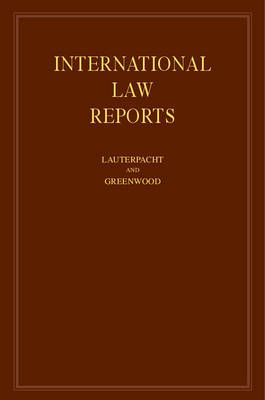 International Law Reports 160 Volume Hardback Set: Volume 101