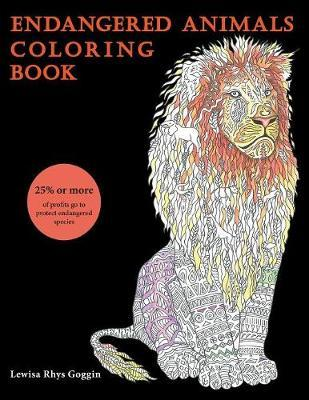 Endangered Animals Coloring Book by Lewisa Rhys Goggin image