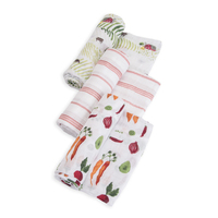 Little Unicorn - Cotton Muslin Swaddle - Farmers Market (3 Pack)