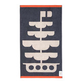 Orla Kiely Kids Hand Towel - Out at Sea (Navy)