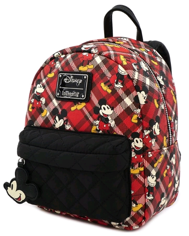 Loungefly: Mickey Mouse - Mickey Tartan Print Mini Backpack
