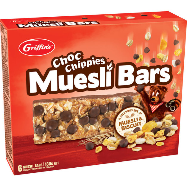 Griffin's Choc Chippies Muesli Bars (8 x 180g)
