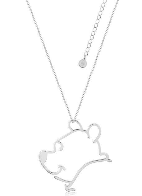 Couture Kingdom: Disney Winnie the Pooh Outline Necklace - Silver