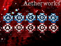 Aetherworks Target Lock Tokens A-E - Blue/Red (10 Pack)