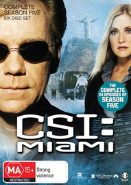 CSI - Miami: Complete Season 5 on DVD